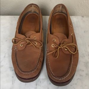 Sperry brown leather Top Sider loafers, size 10.5